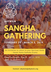 Poster for Sangha gathering February 2019