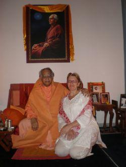 Marilou Hermens with Swami Veda Bharati