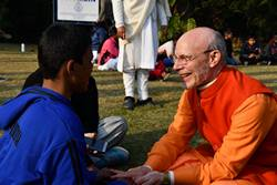 Swami Ritavan at Childrens Retreat SRSG December 2018