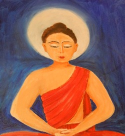 Buddha in Oil Painting