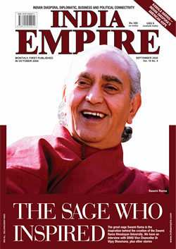 Magazine cover for Sept 2020 edition of India Empire