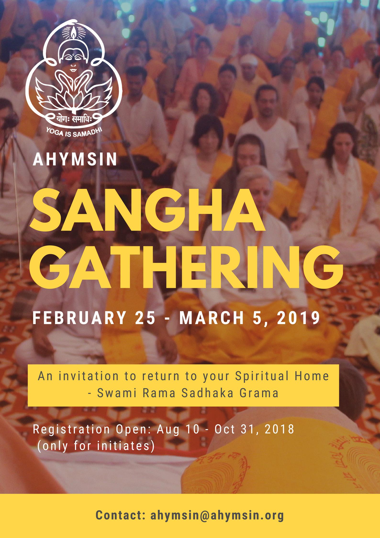 An Invitation to Return Home – AHYMSIN Sangha Gathering 2019
